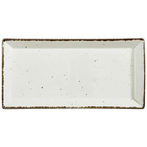 Landscape Servierplatte , Urban Life , Weiß , Keramik , Used look , 20x41 cm , glänzend , handgemacht , 005653003701
