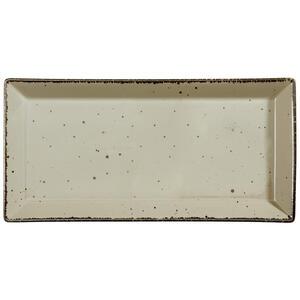 Landscape Servierplatte , Urban Life , Taupe , Keramik , Used look , 20x41 cm , glänzend , handgemacht , 005653003702