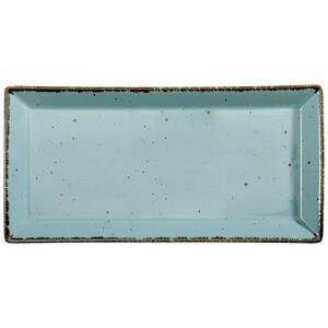 Landscape Servierplatte , Urban Life , Türkis , Keramik , Used look , 20x41 cm , glänzend , handgemacht , 005653003703