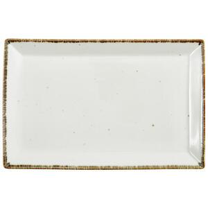 Landscape Servierplatte , Urban Life , Weiß , Keramik , Used look , 23x36 cm , glänzend , handgemacht , 005653003801