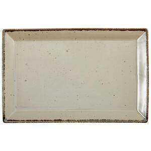 Landscape Servierplatte , Urban Life , Taupe , Keramik , Used look , 23x36 cm , glänzend , handgemacht , 005653003802
