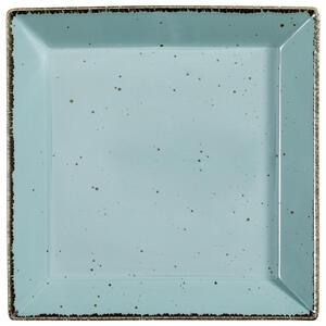 Landscape Servierplatte , Urban Life , Türkis , Keramik , Used look , 28x28 cm , glänzend , handgemacht , 005653003603