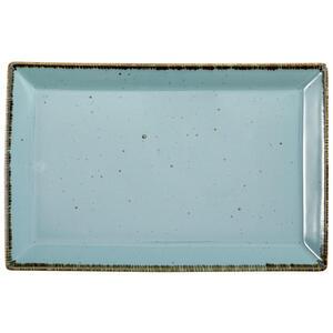 Landscape Servierplatte , Urban Life , Türkis , Keramik , Used look , 23x36 cm , glänzend , handgemacht , 005653003803