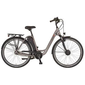 XXXLutz Elektrofahrrad , Prophete E-Bike City EMC 3300 , Grau , Metall , 116x63.5x195 cm , BMS BatterieManagementSystem, bürstenloser Motor, Geschwindigkeitsanzeige, Beleuchtung vorne und hinten, Pe