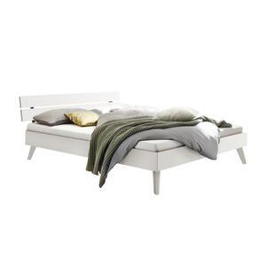 Hasena Bett massiv , Ortona , Weiß , Holz , 200x200 cm , lackiert,Echtholz , in verschiedenen Holzarten erhältlich, in verschiedenen Größen erhältlich,in verschiedenen Holzarten erhältlich, in