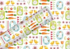 Braun & Company Geschenkpapier Kollektion Bunny + Chick ,  2 m x 70 cm