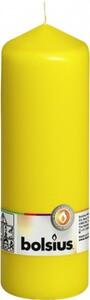 Bolsius Stumpenkerze ,  gelb, Höhe 20 cm, Ø 6,8 cm