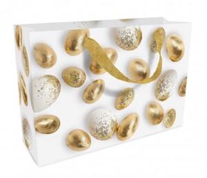 Braun & Company Geschenktragetasche Golden Eggs ,  32 x 22 x 10 cm