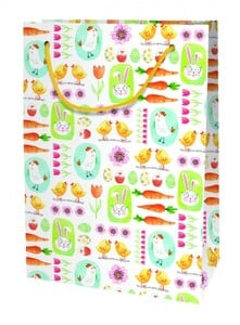 Braun & Company Geschenktragetasche Bunny & Chick ,  20 x 28 x 10 cm