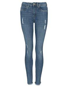 Damen Skinny Fit Jeans im Used-Look