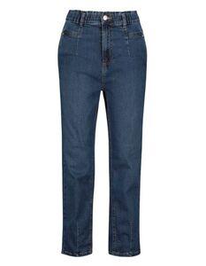 Damen Mom Fit Jeans mit elastischem Bund
