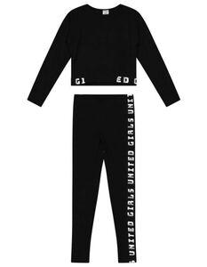 Mädchen Pyjama Set aus Langarmshirt und und Leggings