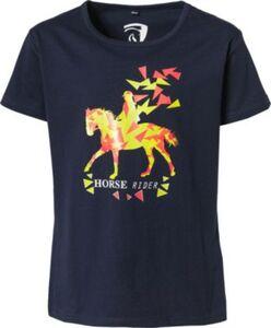 T-Shirt HORSE RIDER  blau Gr. 128 Mädchen Kinder