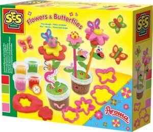 Knete - Duftende Blumen und Schmetterlinge