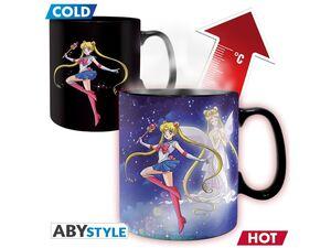 Abysse Deutschland GmbH Tasse Sailor Moon & Chibi (Thermoeffekt) - Fanartikel