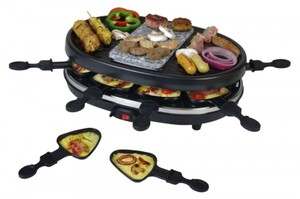Kalorik Raclette TKG RAC 1003 ,  8 Pfännchen 900 Watt