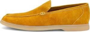 Lottusse, Veloursleder-Slipper in gelb, Slipper für Herren