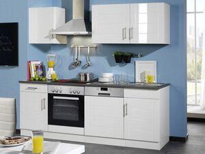 HELD Küchenzeile »Nevada«, B 220 cm, mit Elektrogeräten, aus MDF, 28 mm Arbeitsplatte