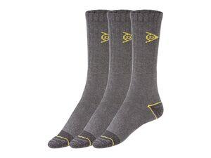 Dunlop Herren Arbeitssocken, 3 Paar, strapazierfähig durch verstärkten Zehen- und Fersenbereich