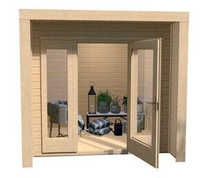 WEKA-Design-Gartenhaus mit großer Glasfront