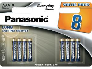 PANASONIC LR03EPS/8BW AAA Micro Batterie, Alkaline, 1.5 Volt 8 Stück