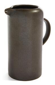Schwarzer Steinzeugkrug