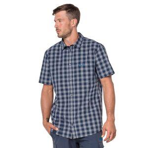 Jack Wolfskin Hot Springs Shirt Hemd S blau night blue checks
