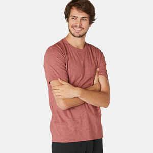 T-Shirt Slim aus dehnbarer Baumwolle Fitness bordeaux