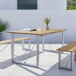Gartentisch ca. 180x90 cm aus Akazie in Grau 'Leonor'