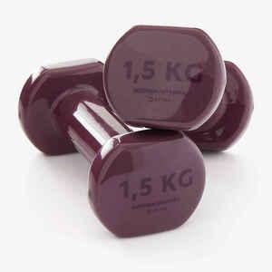 Hanteln Fitness 1,5kg bordeauxrot