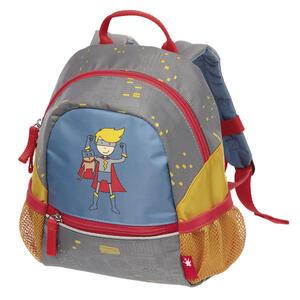 Sigikid Kindergarten-rucksack , 24999  *mb* , Blau, Grau, Orange , Textil , 22x25x11 cm , leuchtende Reflektorstreifen , 006933007004