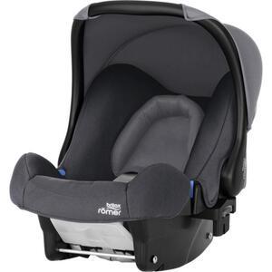 Römer Babyschale baby-safe , 2000030765 Baby-Safe  *mb* , Schwarz, Dunkelgrau , Kunststoff , 44x57x65 cm , 5-Punkt-Gurtsystem, abnehmbarer und waschbarer Bezug, ergonomischer Tragebügel, Flugzeugzu