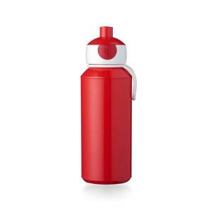 Mepal Trinkflasche 0,4 l , 107410070100 , Rot , Kunststoff , Uni , 6.4x7.0x18.4 cm , glänzend , Tragegriff, Schraubverschluss , 007255041822