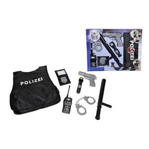 XXXLutz Kinderkostüm , 108102665 Polizei Einsatz-Set , Grau, Schwarz , Kunststoff , 46x36x5 cm , 004500049602