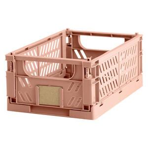 XXXLutz Klappbox , 73856 , Koralle , Kunststoff , 16.5x10x25 cm , faltbar , 006096004402