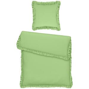 Bio:Vio Bettwäsche renforcé grün , Romance , Textil , Uni , 155x220 cm , Renforcé , atmungsaktiv, saugfähig , 005959002703