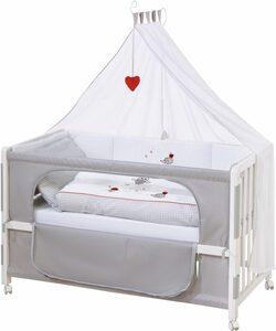 roba® Babybett »Room bed - Dekor Adam und Eule«, als Beistell-, Kinder- und Juniorbett verwendbar