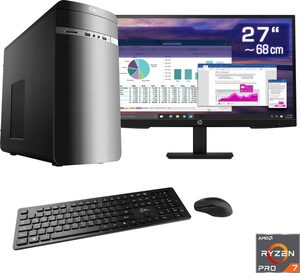 CSL »Sprint T8537 Windows 10« Business-PC-Komplettsystem (27 Zoll, AMD Ryzen 7, HD Graphics, 16 GB RAM, 512 GB SSD)
