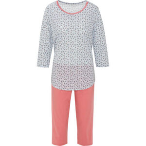 Calida Pyjama, 3/4-Hose, 3/4-Arm, floral, für Damen