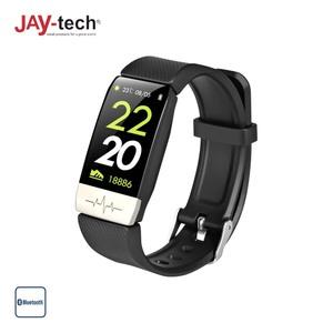 Fitness-Tracker FT5T · Kontrolle via kostenloser App · Pulsmesser · Blutdruckmesser · Schrittzähler · Push-Nachrichten vom Handy · Silikon-Armband · Wasserfestigkeit: IP67