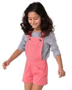 Latzshorts  von Oklahoma Premium Denim pink Gr. 134/140 Mädchen Kinder