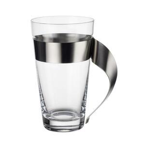 Villeroy & Boch Kaffeeglas , 1137373421 , Klar , Metall, Glas , 300 ml , mit Henkel , 0034070114