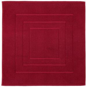 Vossen BADEMATTE Dunkelrot 60/60 cm , 8111/1200 , Textil , Uni , 60x60 cm , Frottee , für Fußbodenheizung geeignet, rutschhemmend , 003355046512