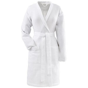 Vossen Bademantel weiß , 5016 Rom , Textil , Frottee , Taschen, besonders flauschig, hochwertige Qualität, modische Optik , 003355033403