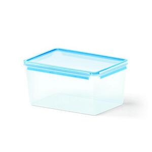Emsa Frischhaltedose 8,2 l , 508548 , Blau, Transparent , Kunststoff , 22.7x16.3x32.7 cm , lebensmittelecht, luftdichter Verschluss, auslaufsicher, wasserdicht, mikrowellengeeignet, stapelbar , 00326