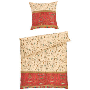 Bassetti Bettwäsche makosatin rot , Oplontis 36936 , Textil , Ornament , 135x200 cm , Makosatin , pflegeleicht, bügelleicht , 005639008001