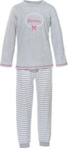 Erwin Müller Single-Jersey Kinder-Schlafanzug  Streifen langarm#lange Hose 128