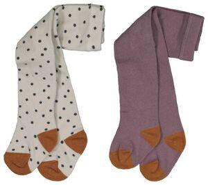 HEMA 2er-Pack Baby-Strumpfhosen Violett