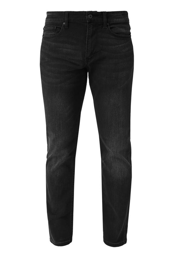 Herren Regular Fit: Straight leg-Denim aus elastischer Qualität