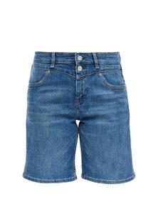 Damen Regular Fit: Jeans-Bermuda